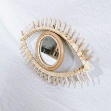 Декоративное зеркало в форме глаз из ротанга инновационный художественный
