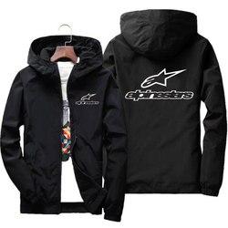 Primavera outono masculino bombardeiro zíper jaqueta alta montanha estrela jaqueta masculina casual fino jaqueta com capuz casacos casual blusão S-7XL