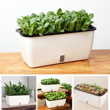 VICTMAX Rectangular Automatic Watering Planter Modern Auto Irrigate Flower Pot for Home Garden Decor - S/LType