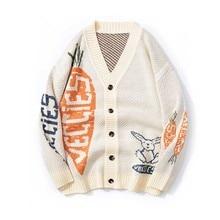 Autumn Winter Sweater Loose Knit Cardigan Men's Jacket Casual Retro Streetwear Warm Clothing