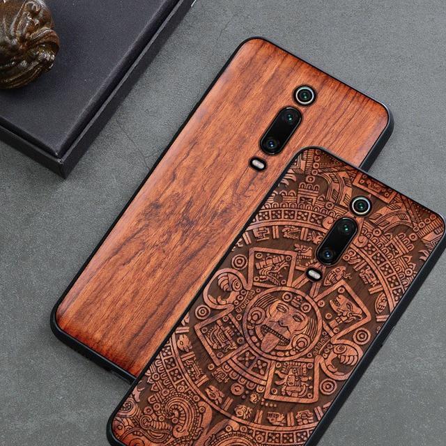 טלפון מקרה עבור Xiaomi Mi 9 לייט Mi 9T Mi 10 פרו מקורי Boogic עץ מקרה עבור Xiaomi Redmi הערה 7 הערה 8 פרו טלפון אבזרים