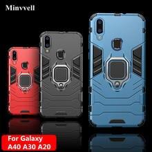 4 em 1 caso para samsung galaxy a40 a30 a20 caso armadura capa anel de dedo titular caso do telefone para samsung a 40 30 20 capa pára-choques