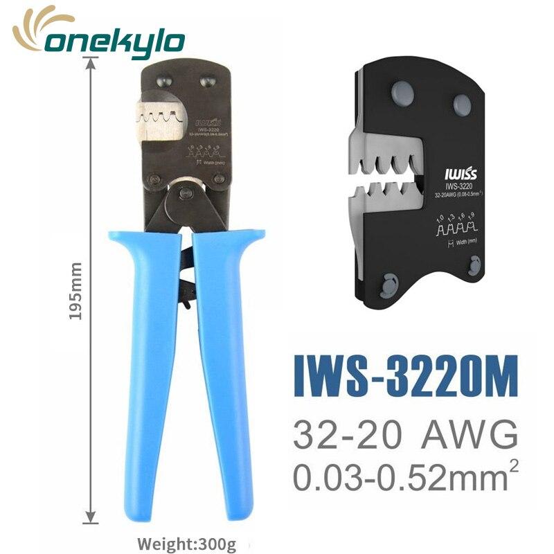 SHDJAMTYCO MateMolex 5mm  IWISS Crimping  0 03 Molex CLIK 0 3220 Suits   Plier 100 D PicoBladeJST Crimper Tools Etc IWS Hand