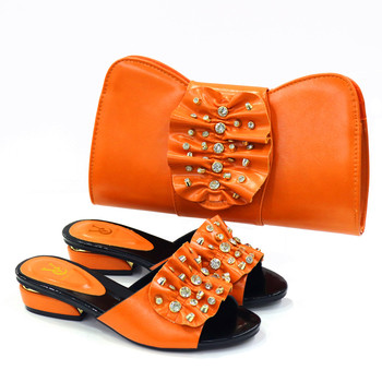 2020 New blue Matching Shoes and Bag Set In Heels African Shoes and Matching Bags Italian Pumps Matching Shoe and Bag Set 7