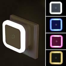 Qifu led night light sensor de controle noite lâmpada de poupança energia led sensor da ue eua plug nightlight para crianças quarto