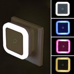 QIFU-Lámpara LED con Sensor de luz nocturna para niños y dormitorio, lámpara con Sensor LED de ahorro de energía, luz nocturna con enchufe europeo y estadounidense