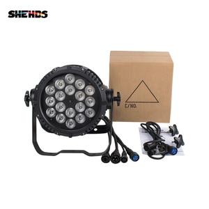 Image 4 - En çok satan su geçirmez LED Par 18x18W RGBWA + UV DMX512 açık IP65 LED DMX sahne aydınlatma etkisi ana Slave Luces Discoteca