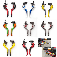 CNC 3D Rhombus Motorcycle Folding Extendable Brake Clutch Levers For Suzuki GSF 650 GSF650 BANDIT 650 2005 2006
