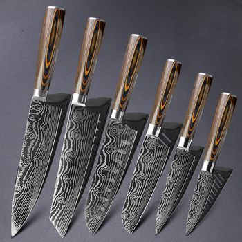 Kitchen Knife 8 Inch Chef Knives 7cr17 440c High Carbon Stainless Steel Damascus Drawing Gyuto Cleaver Set Slicer Santoku Knife Buy At The Price Of 7 51 In Aliexpress Com Imall Com