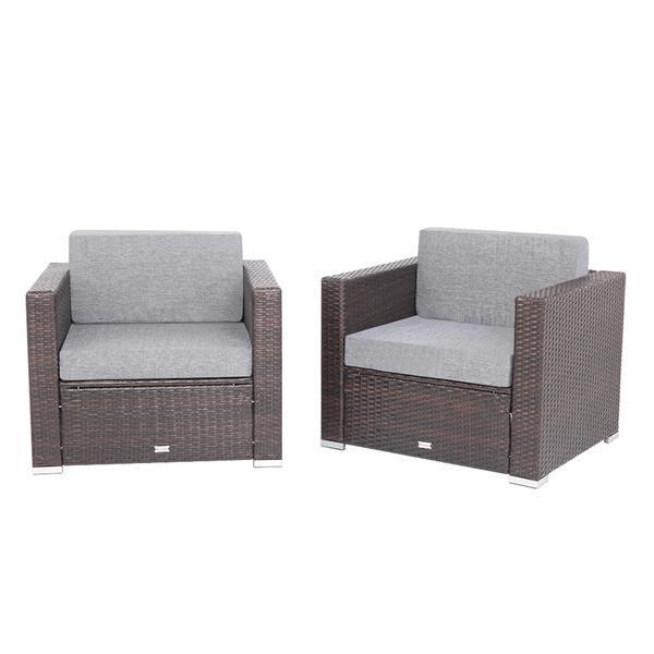 2 Pieces Patio Sofa 2