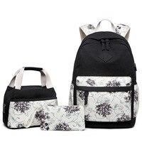 2020 جديد الأزهار يطبع على ظهره حقيبة كتف نسائية مدرسة بنات حقيبة الظهر الإناث تصميم Backbag الاطفال طالب Bookbags حقائب مدرسية    -