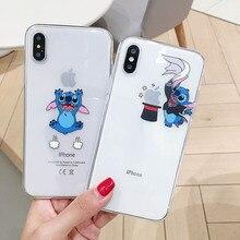 Cartoon magician Stitch originality LOGO Phone Case Soft TPU Cover For iPhone 6 6s 7 8 Plus X XS XR XSMax 11 Pro Max