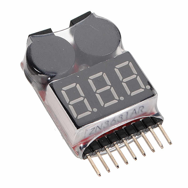 Spannung monitor 1 S-8 S Lipo/Li-Ion/Fe Batterie Spannung 2IN1 Tester Low Voltage Buzzer Alarm 3,7-30 V 3,9 cm x 2,4 cm x 0,9 cm