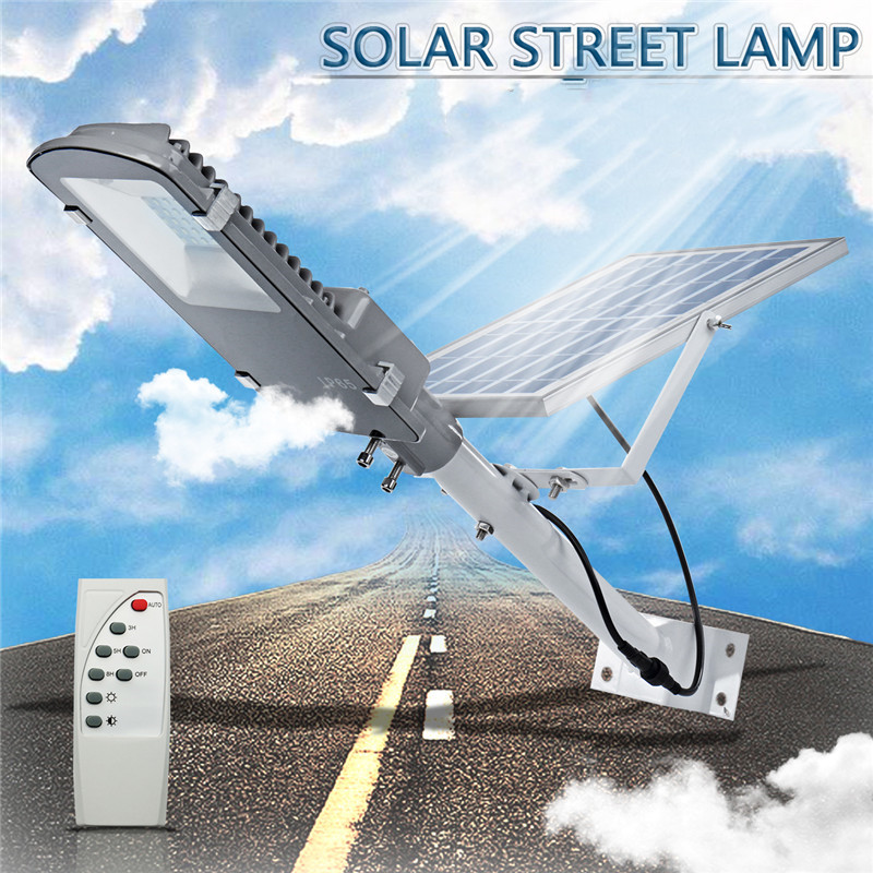 20W 40LED Solar Light Sensor Street Light with Dimming Rmote Control Waterproof IP65 Outdoor Lighting|Street Lights| |  - title=