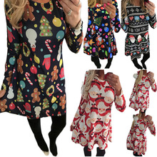 Autumn Winter Christmas Dress New Year Festival Family Party Dress