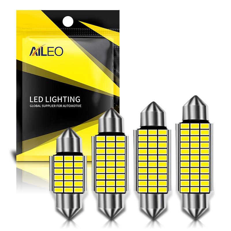 AILEO 1x C10W C5W LED Canbus Festoon 31mm 36mm 39mm 42mm for car Bulb Interior Reading Light License Plate Lamp White Free Error 1