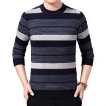 Autumn Winter Sweater Pullovers O-neck Men Sweater Striped Casual Men Knitted Slim Fit Sweater Pullover Men Brand Clothing 2020