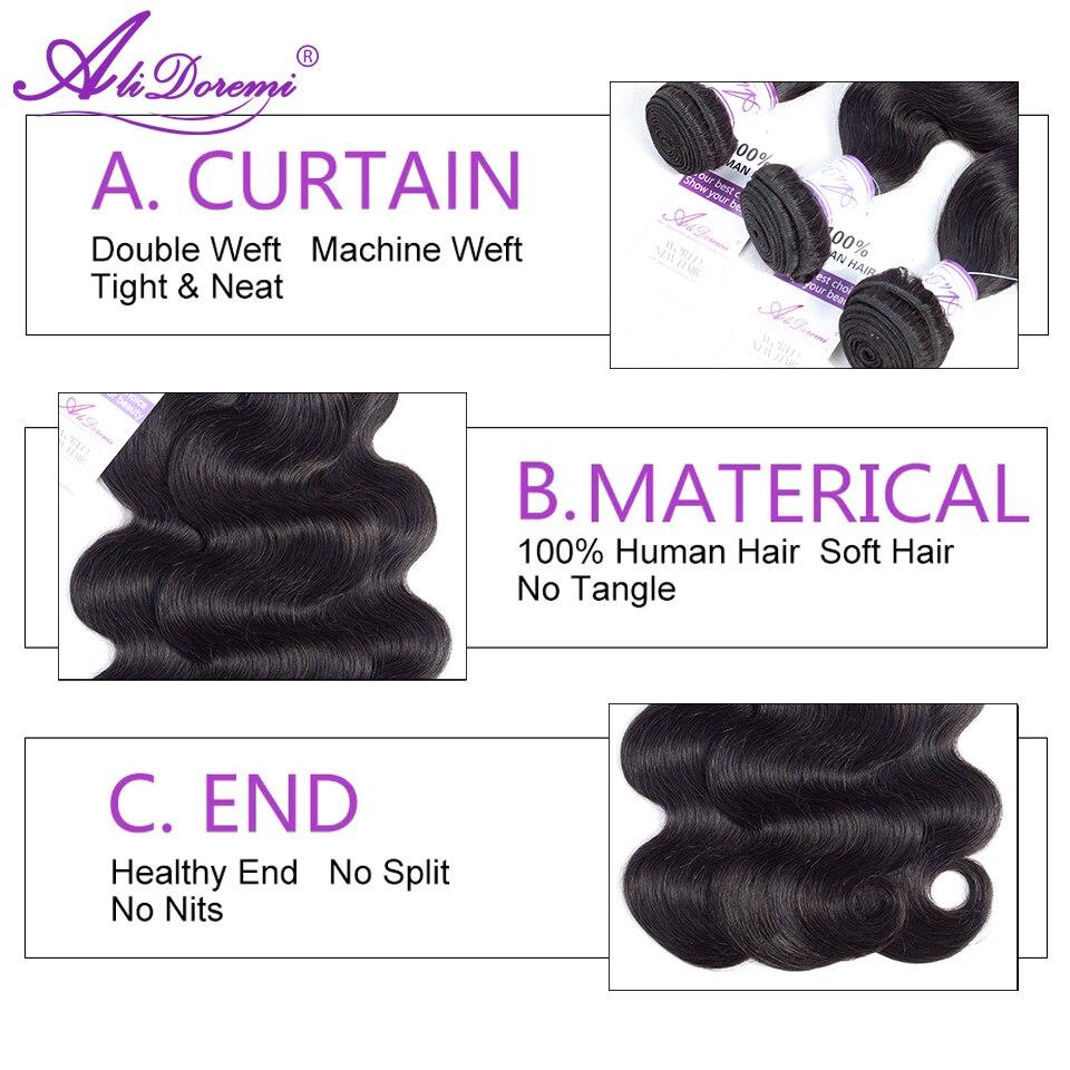 H4a74fcedc5e04a16b70ba5bfe74f1ab3N Brazilian Body Wave Bundles With Closure 3 Bundles Human Hair Bundles With Lace Closure Alidoremi Remy Hair Weave Bundles