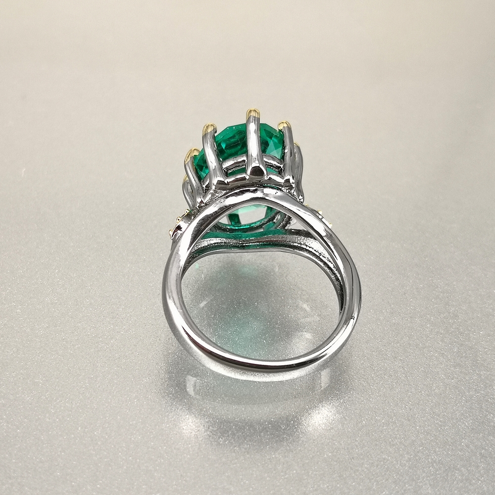 DreamCarnival1989 Big Green Zirconia Solitaire Wedding Ring for Women Delicate Fine Cut Dazzling Prong CZ Bridal Jewelry WA11876 4