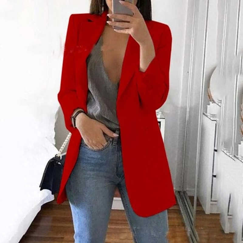 2019 New Sytyle Fashion Women Lady Suit Coat Business Blazer Long Sleeve Jacket Outwear Clothes Female Blazers Hot Selling