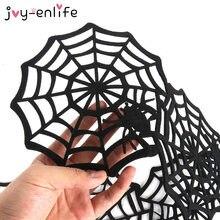 Alfombrilla de aislamiento antideslizante para decoración del hogar, posavasos de tela de araña para Halloween, no tejido, antideslizante, 1 Uds.