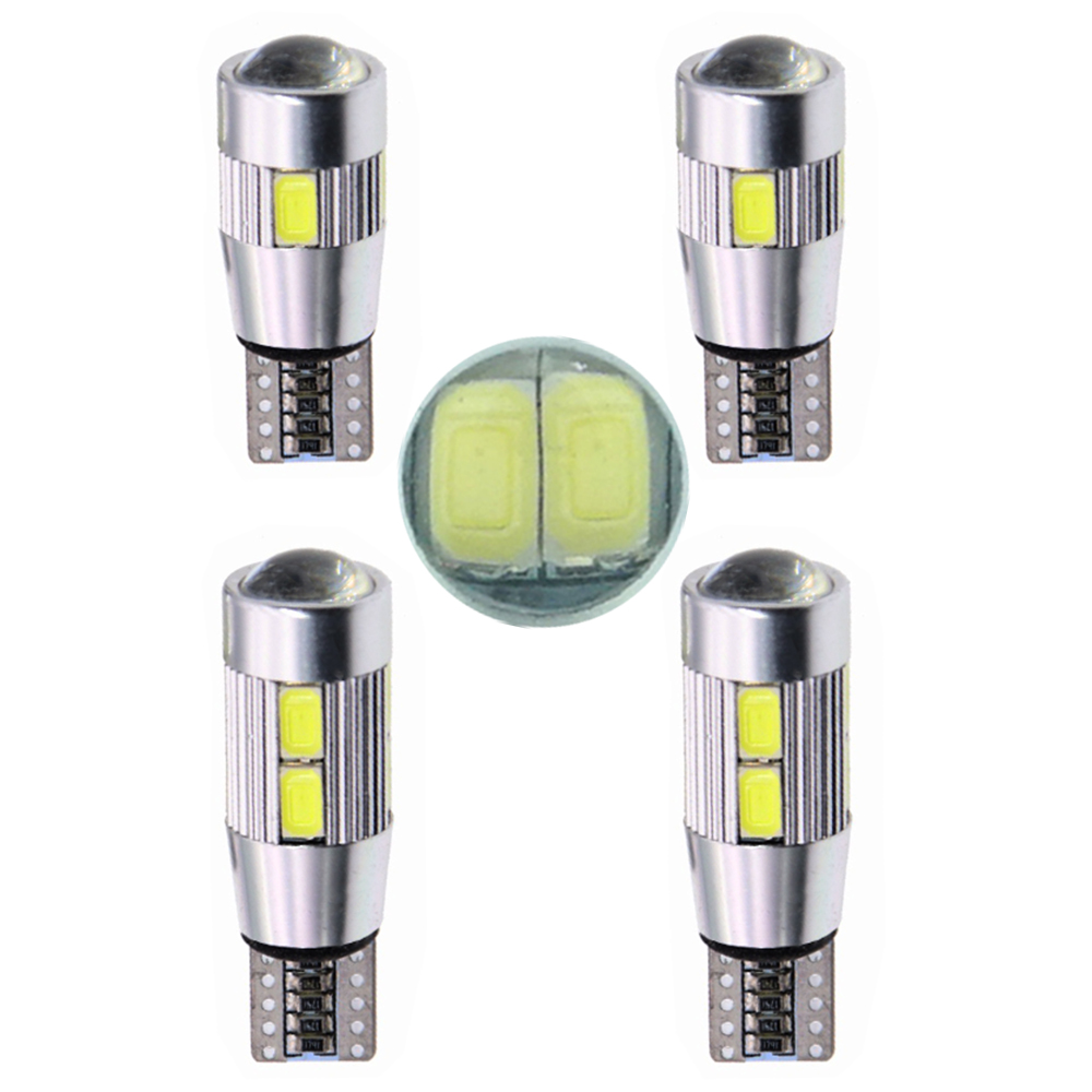 2PCS T10 W5W Car <font><b>LED</b></font> Turn Signal Bulb <font><b>Canbus</b></font> Auto Interior Dome Reading Light Wedge Side Parking Reverse Brake Lamp <font><b>5W5</b></font> 5630 image