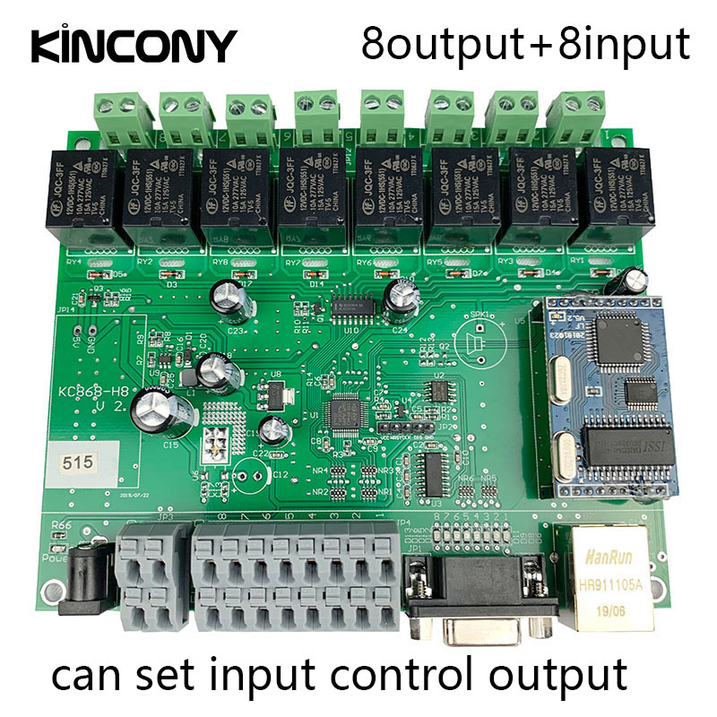 Smart Home Automation Module Controller Network TCP IP Relay Control Domotica Remote APP/PC System 8 Switch Channel 8CH Sensor