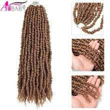 12 iplikçik büyük ön tutku Twisted 20 inç sentetik bohem tığ örgü saç Ombre kabarık saç uzatma Alibaby