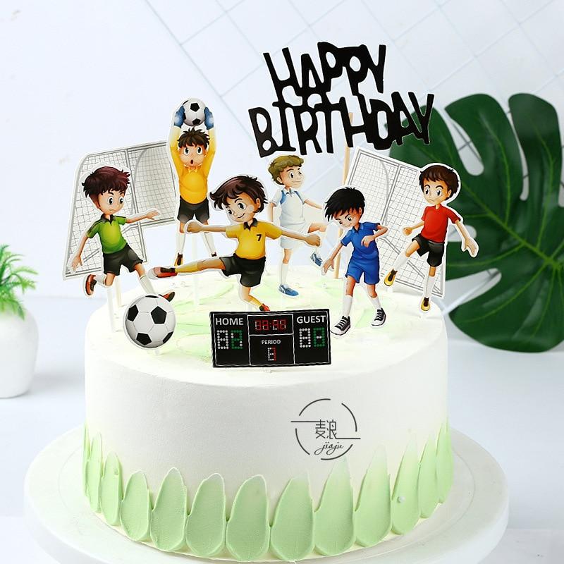 Fabulous Boys Sport Happy Birthday Cake Topper Football Birthday Cake Birthday Cards Printable Giouspongecafe Filternl