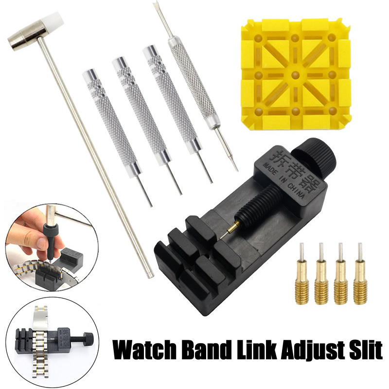 11Pcs/set Watch Link For Band Slit Strap Bracelet Chain Pin Remover Adjuster Repair Tool Kit For Men Women Watch