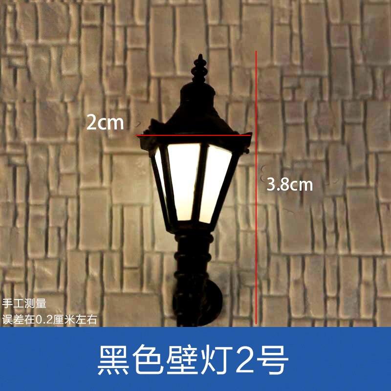 10pcs O HO OO N Scale 3V 6V 1:50 1:75 1:100 1:200 Model Lamppost Bulbs  Up Wall Lights Lamps Model