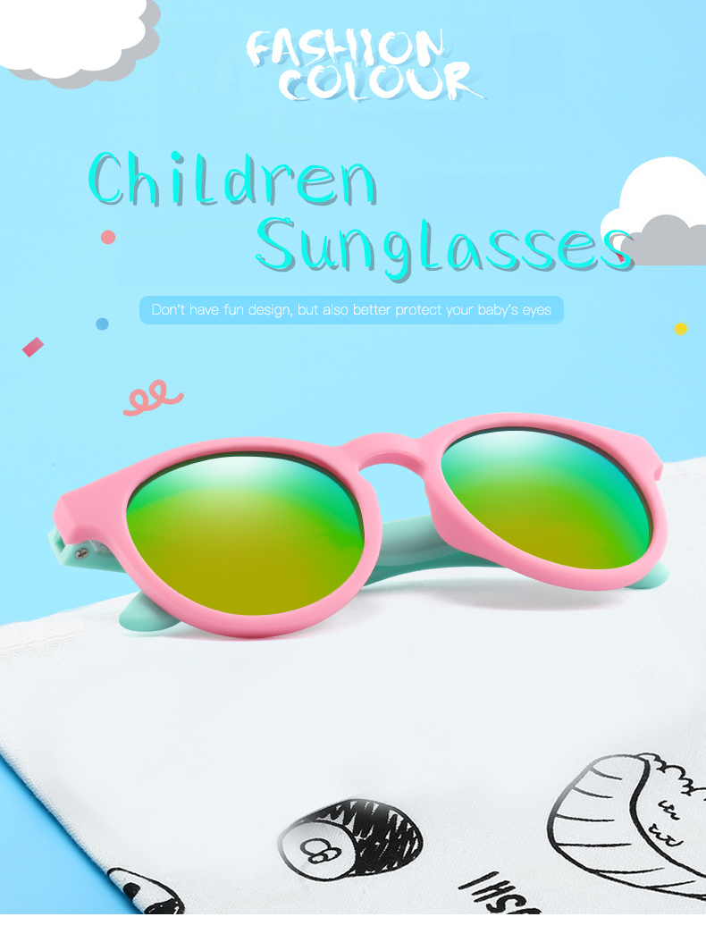 H4a75ab3189e34db0bacaaf8ea1286e96u - WarBlade New Kids Polarized Sunglasses Round Children Sun Glasses Boys Girl Safety Glasses Baby Infant Shades Eyewear UV400