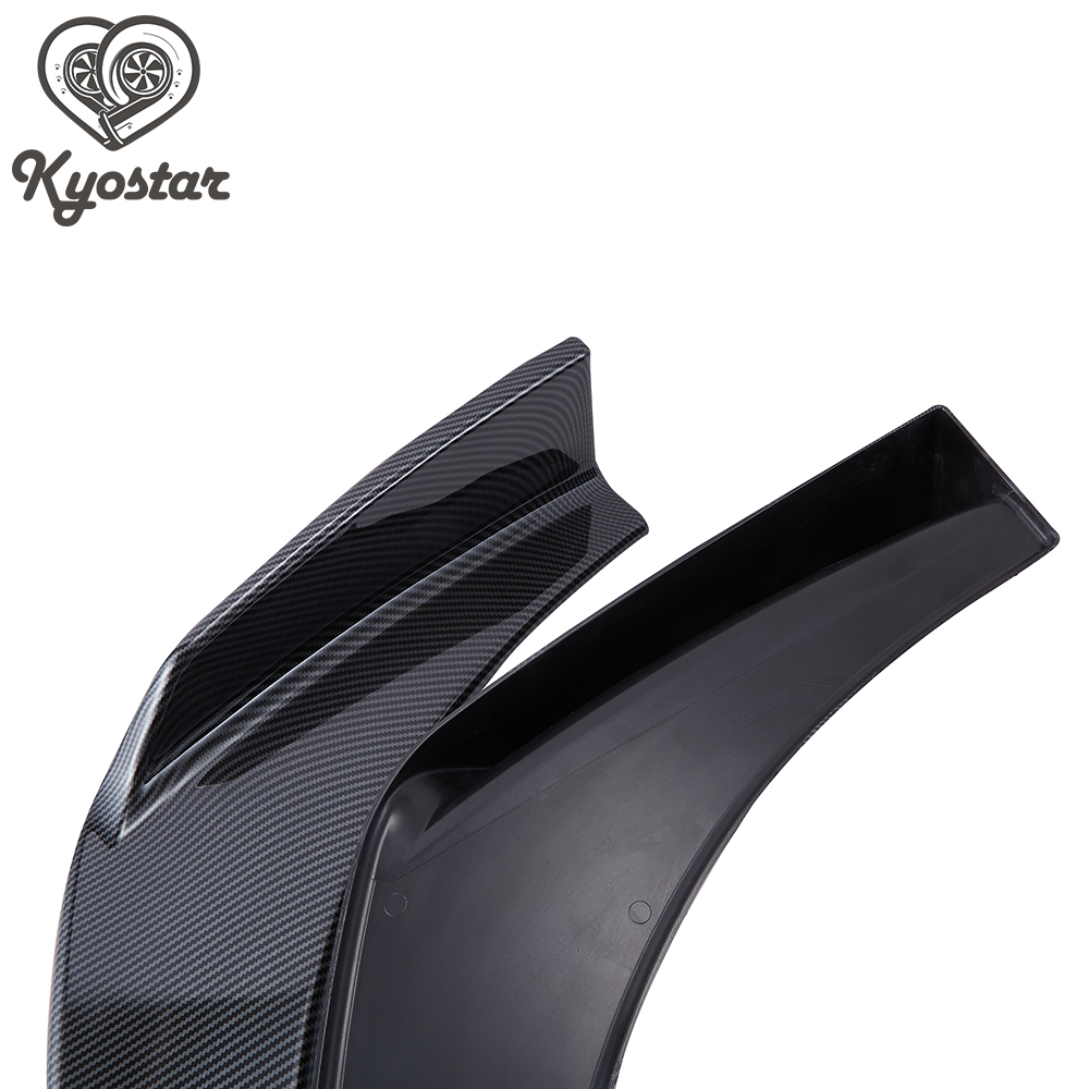 Black Kyostar Universal Front Bumper Lip Body Shovels Front Bumper Spoiler Splitter Winglets Canards