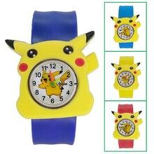 New Cute Bear Blue Kids Watches Cartoon Pikachu Children