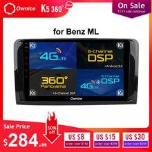 Ownice K3 K5 K6 1 Din Android 9,0 reproductor de DVD del coche para Mercedes-Benz ML W164 W300 ML350 ML450 ML500 GL X164 G320 GL350 GL450 GL500