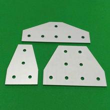 4 / 6 / 8 fori tipo T 3030 4040 2040 3060 4080 4590 piastra di collegamento staffa angolare scheda di giunzione per profili in alluminio