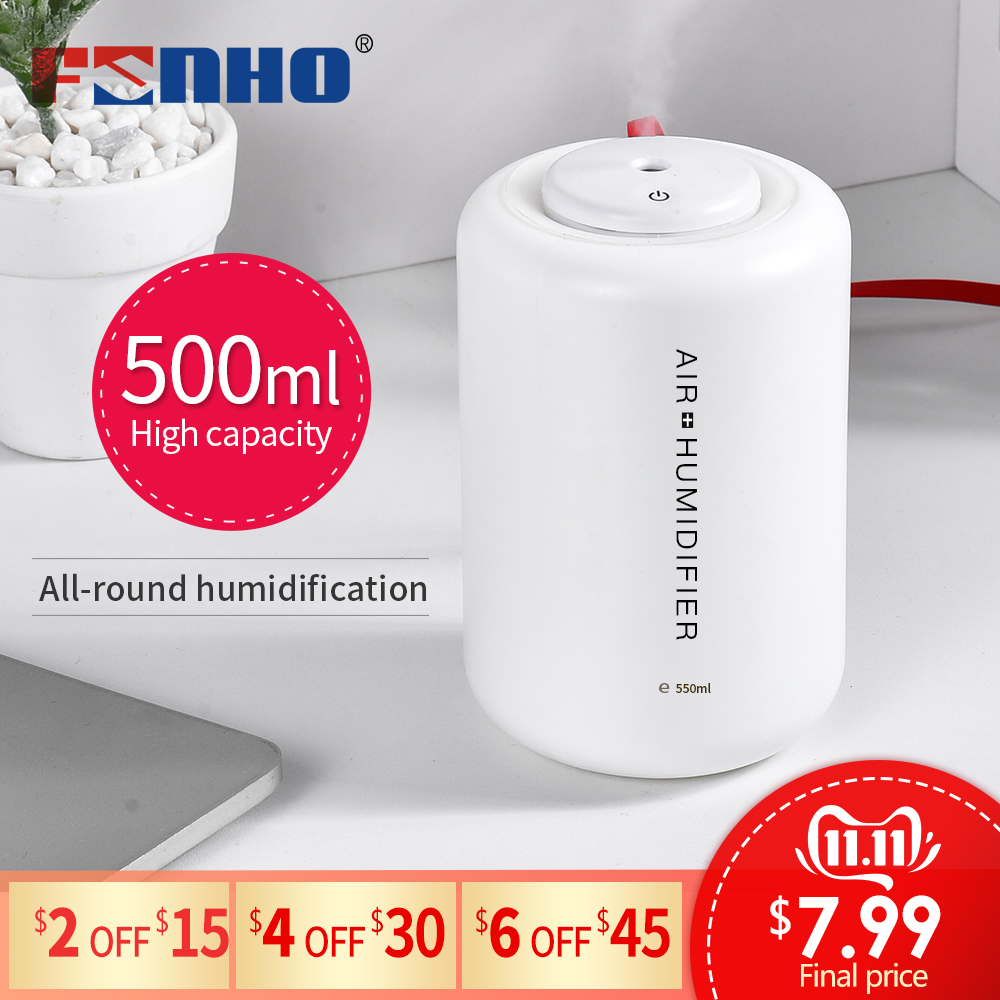 FUNHO 500ML USB Electric Aroma Air Diffuser Ultrasonic Air Humidifier Essential Oil Aromatherapy Cool Mist Maker For Home