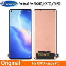 Super AMOLED for OPPO Reno5 Pro 5G PDSM00 LCD Display Touch Screen Digitizrt For OPPP Reno 5 Pro PDST00 CPH2201 LCD Glass