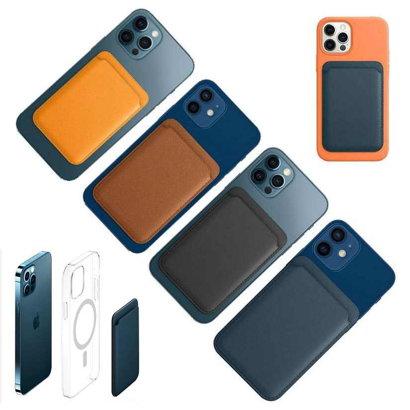 Porta carte di credito portafoglio ufficiale porta carte di credito magnetico per Apple iPhone 12 Pro Max 12 Pro Mini custodia per telefono originale