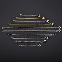 5pcs/Lot Stainless Steel Lobster Clasps Extended Chains For Necklace Extension Chain Jewelry Making Supplies Findings