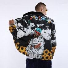 2019 New Hip Hop Style Streetwear Casual Bomber Jacket Men Coat Fashio