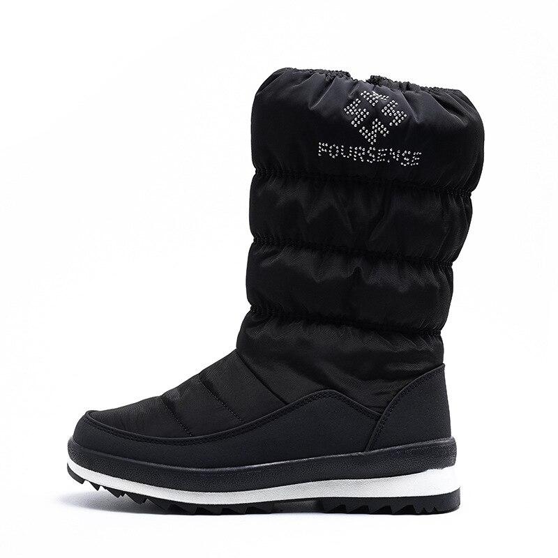Tube de loisirs de mode chaud, imperméable à l'eau, résistant à l'usure en duvet bottes de neige femmes fermeture éclair latérale bottes pour femmes confortables - 5