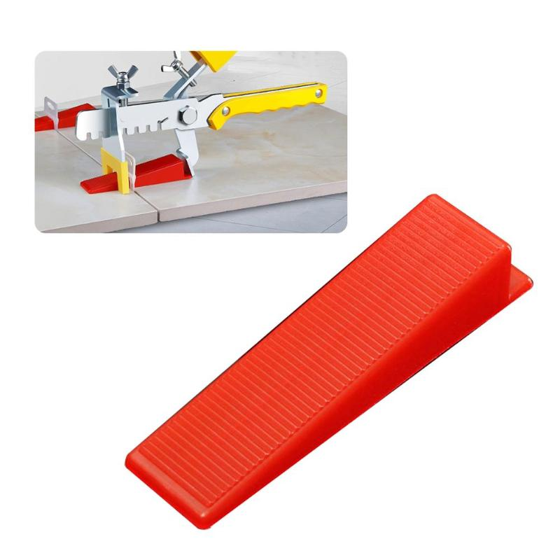 100pcs Tile Leveling Wedges Locator Level Masonry Tile Spacers Provide Smooth Surface For Flooring Level Tools Reusable