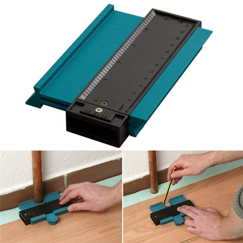 Plastic Gauge Contour Profile Copy Gauge Duplicator Standard 5inch Width Wood Marking Tiling Laminate Tiles General Tools DA