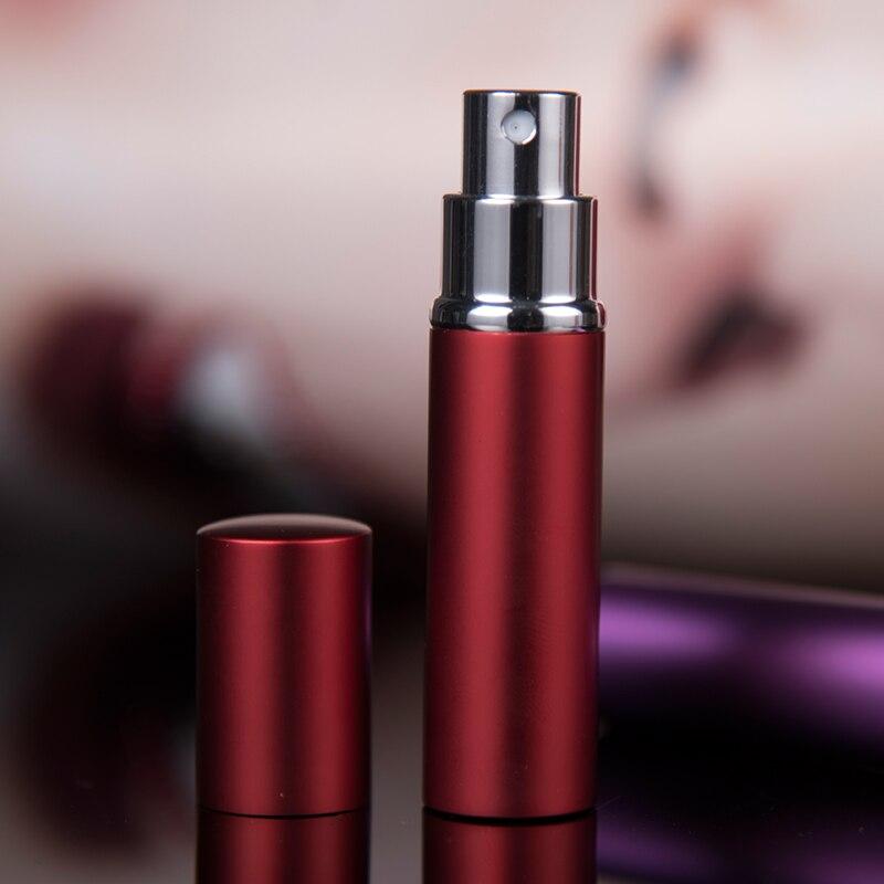 10 шт./лот 5 мл 10 мл высококачественный многоразовый мини-распылитель для духов пустой стеклянный флакон для парфюма алюминиевые распылители