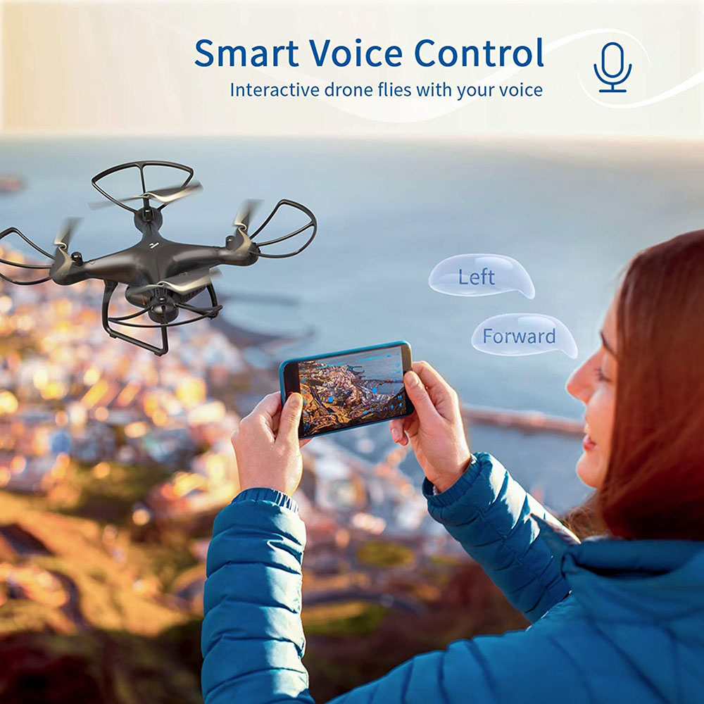 lowest price SNAPTAIN Drone with Camera 1080P HD Live Video Camera Drone w Voice Control Gesture Control Circle Fly High-Speed Rotation