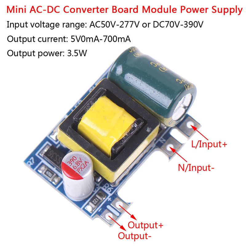 Mini AC-DC 110V 120V 220V 230V To 5V 12V Converter Board Module Power Supply 5V 700mA (3.5W)-2