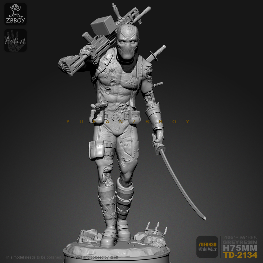 75mM Resin Figure Kits Deadpool Returns Self-assembled TD-2134