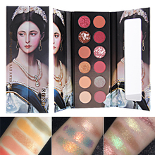 12 Colors Glitter Nude Matte Eye Shadow Palette Makeup Shimmer Crystal Pigment Smoky Eyeshadow Palette Waterproof Cosmetics