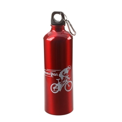 Nowe wzory rowerów sportowych Camping aluminiowy czajnik 750 ML czerwony|Bidony rowerowe|   -